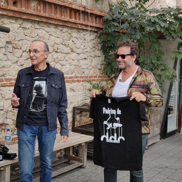 Gerardo Sánchez junto al productor Enrique López Lavigne