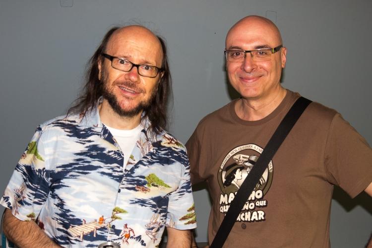 Pep Bras, guionista, junto a Santiago Segura. Entrevistado en www.entrevisttas.com