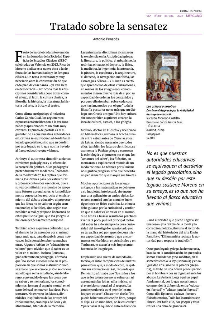 Tratado sobre la sensatez | Artículo de Antonio Penadés