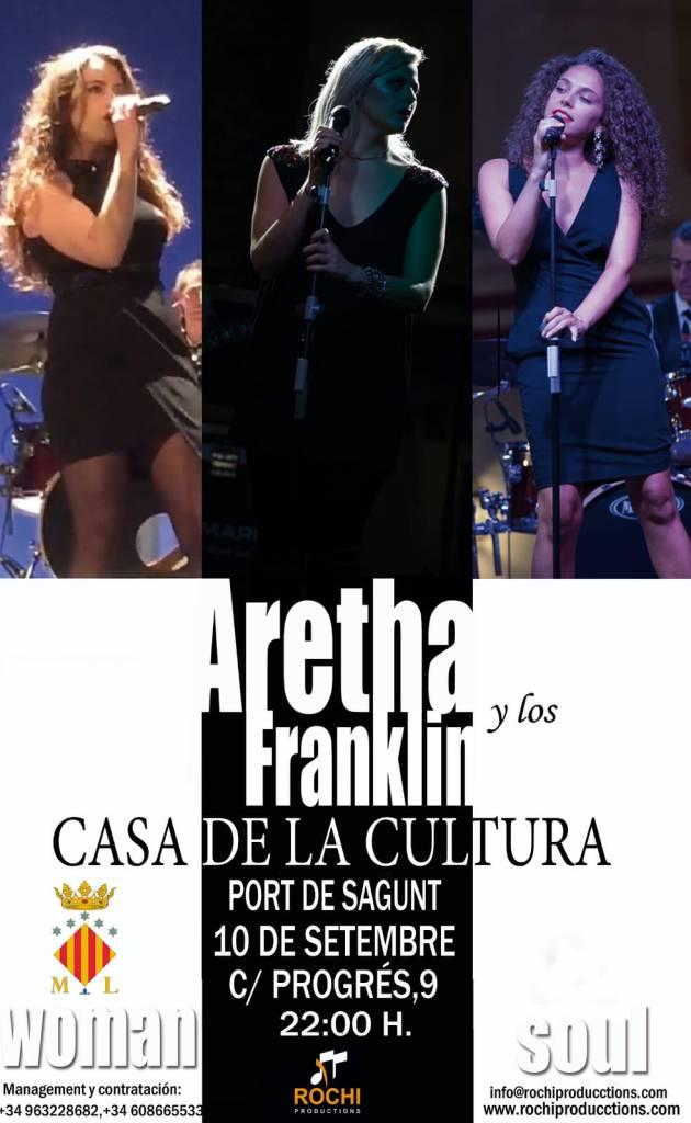 Aretha y los Franklin en concierto en el Puerto de Sagunto   10 de septiembre de 20121. C/Progrés, 9 a las 22h.