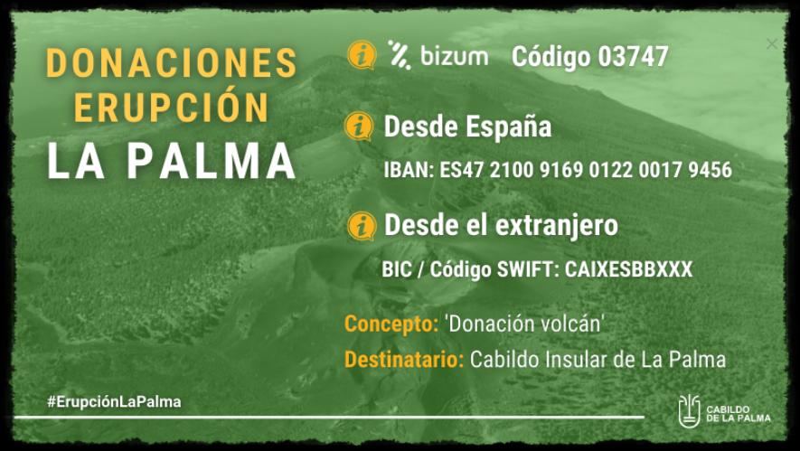 En la imagen, veréis cómo se puede ayudar a La Palma desde dentro y desde fuera de España. #ErupciónLaPalma