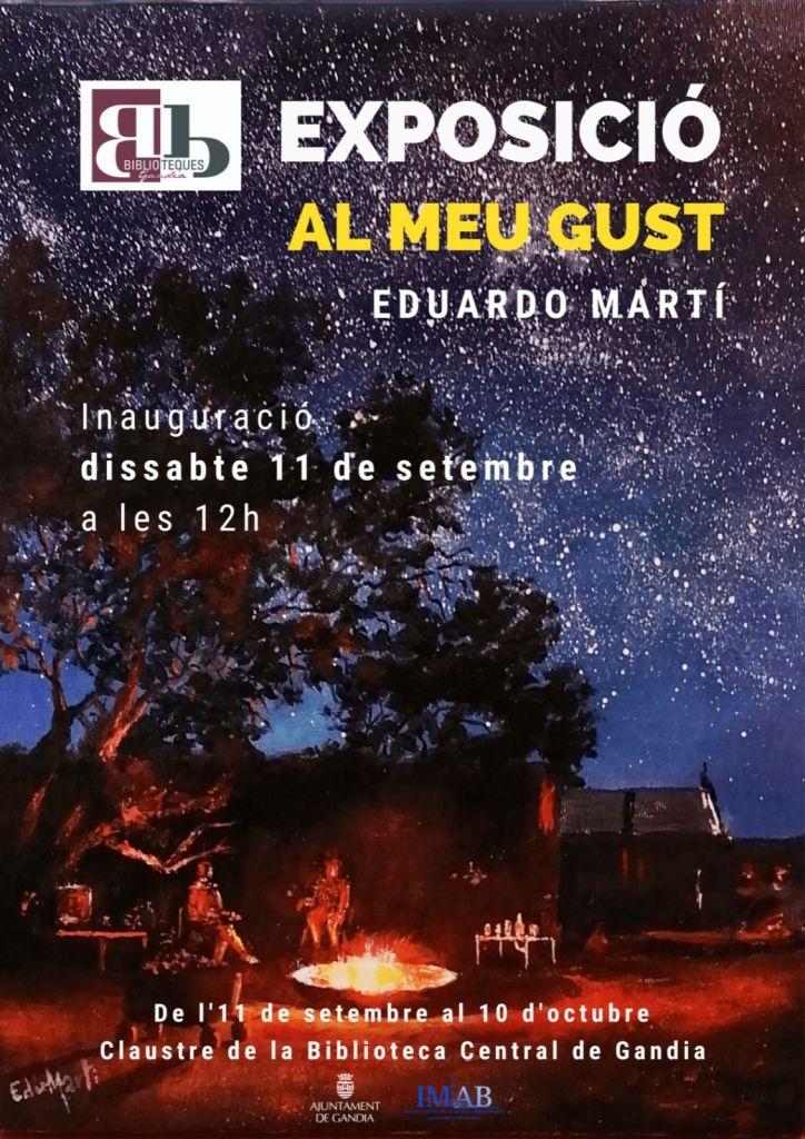 Exposición de pinturas de Eduardo Martí   Biblioteca Central de Gandía   Entrevisttas.com