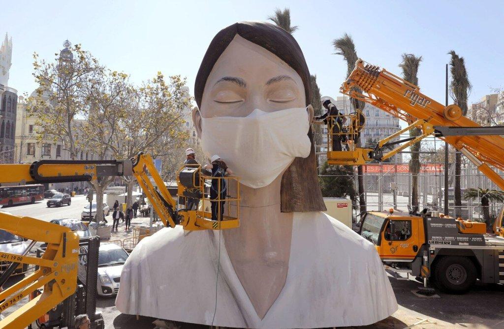 Falla del Ayto. de Valencia   Una de las pocas Plantás del 2020