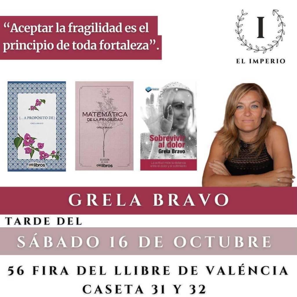 Firmas de Grela Bravo en la 56 Fira del Llibre de València   Caseta 32 el 16 de octubre de 2021